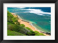 Framed Larsen's Beach, North Shore, Island Of Kauai, Hawaii