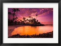 Framed Sunset Over Pu'uhonua O Honaunau National Historic Park, Hawaii