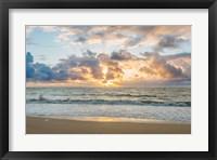 Framed Kealia Beach Sunrise, Kauai, Hawaii