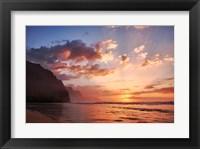 Framed Sunset Along The Coast Of Kauai, Hawaii