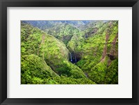 Framed Waterfalls Of Kauai, Hawaii