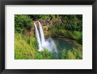 Framed Rainbow In Wailua Falls, Kauai, Hawaii