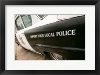 Framed 1950's Police Car