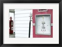 Framed Antique Gas Pump, Route 66