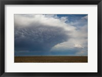 Framed Storm Cell Forms Over Prairie, Kansas