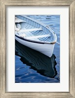 Framed Dinghy Moored At Dock, Rockport, Maine