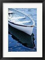 Framed Dinghy Moored At Dock, Rockport, Maine