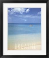 Framed Blue Seas of Barbados