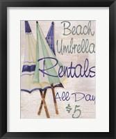 Framed Beach Umbrellas
