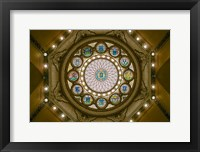 Framed Rotunda Ceiling, Massachusetts State House, Boston
