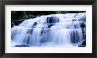 Framed Wide Cascade Of Bond Falls On The Ontonagon River