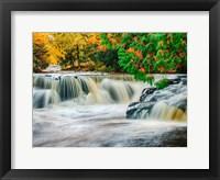 Framed Bond Falls On The Middle Fork Of The Ontonagon River
