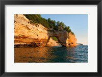 Framed Lovers Leap Arch Along The Lake Superior Shoreline