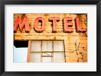 Framed Old Motel Sign, Route 66