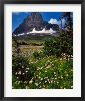 Framed Clements Mountain, Glacier National Park, Montana