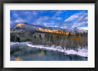 Framed Mcdonald Creek And The Apgar Mountains In Glacier NP