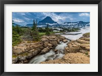 Framed Snowmelt Stream In Glacier National Park, Montana