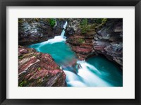 Framed St Mary Falls, Glacier National Park, Montana