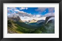 Framed Panorama Of Logan Pass, Glacier National Park, Montana