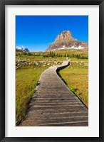 Framed Hidden Lake Trail At Logan Pass, Glacier National Park, Montana