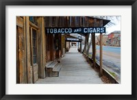 Framed Tobacco Gold Rush Store In Virginia City, Montana