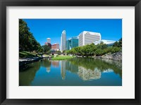 Framed City Park Lagoon In Omaha, Nebraska