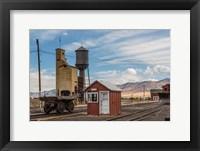 Framed Detail Of Historic Railroad Station, Nevada