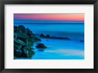 Framed Cape May In Aqua, New Jersey