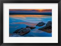 Framed Rocky Seashore Of Cape May, New Jersey