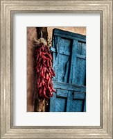 Framed Hanging Chili Peppers, New Mexico