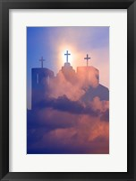 Framed Heavenly Church With Clouds, New Mexico