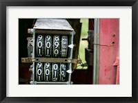 Framed Antique Gas Pump Counting Machine, Tucumcari, New Mexico
