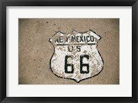 Framed New Mexico State Route 66 Sign