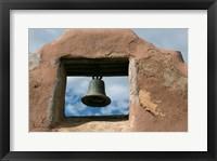 Framed Adobe Church Bell, Taos, New Mexico