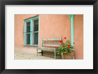 Framed Exterior Of An Adobe Building, Taos, New Mexico