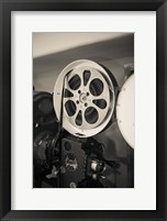 Framed Vintage Film Projector At The Kimo Theater, New Mexico
