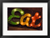 Framed Colorful 'Eat' Antique Sign, New York City, New York