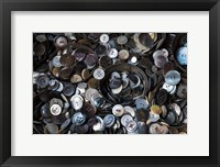 Framed Pile Of Old Buttons