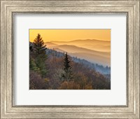 Framed Sunrise From The Oconaluftee Valley Overlook, North Carolina
