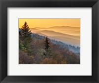 Framed Sunrise From The Oconaluftee Valley Overlook, North Carolina