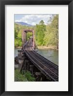 Framed Abandoned Railroad Trestle, North Carolina