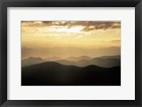 Framed Sunset Mountains Along Blue Ridge Parkway, North Carolina