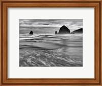 Framed Cannon Beach, Oregon (BW)
