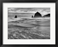Framed Cannon Beach, Oregon (BW)