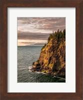 Framed Cape Meares State Park At Sunset, Oregon