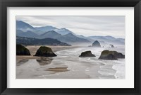 Framed Rocky Cannon Beach Panorama, Oregon
