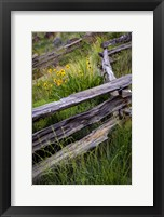 Framed Split Rail Fence In Smith Rock State Park, Oregon