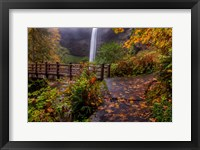 Framed South Falls In Autumn, Oregon