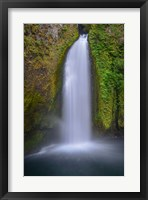 Framed Wahclella Falls, Columbia River Gorge, Oregon
