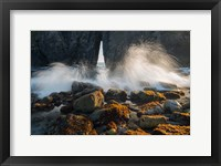 Framed Ocean Spray On Rocky Coastline, Oregon